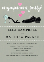 Engagement Party Invitation - happy feet