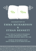 Engagement Party Invitation - his & hers towels