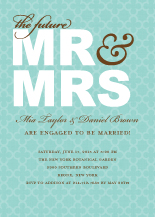 Engagement Party Invitation - the future mr & mrs