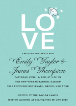 Engagement Party Invitation - love ring