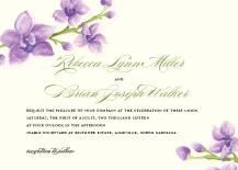 Wedding Invitations - elegant orchids