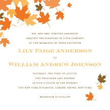 Wedding Invitations - maple leaves