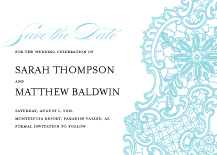 Save the Date Card - lace