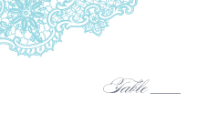 Place Card - lace