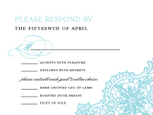 Response Card with menu options - lace