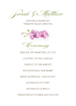 Wedding Program - artistic orchid