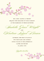Wedding Invitations - cherry blossom