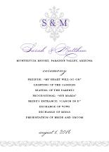 Wedding Program - damask monogram