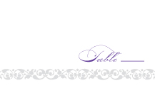 Place Card - damask monogram