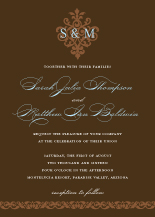 Wedding Invitations - damask monogram