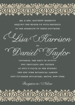 Wedding Invitations - french trellis