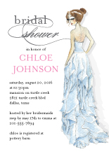 Wedding Shower Invitation - beautiful bride