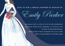 Wedding Shower Invitation - here comes the bride
