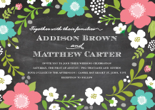 Wedding Invitations - wild garden