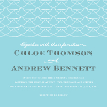 Wedding Invitations - waves