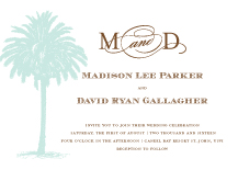 Wedding Invitations - vintage palm tree