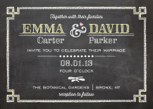 Wedding Invitations - chalkboard chic