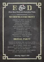 Wedding Program - chalkboard chic
