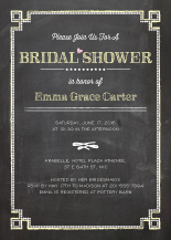 Wedding Shower Invitation - chalkboard chic