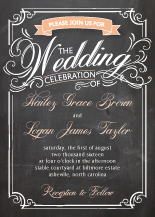 Wedding Invitations - swirly chalkboard