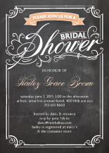 Wedding Shower Invitation - swirly chalkboard