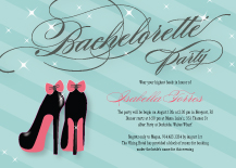 Bachelorette Party Invitation - stiletto sparkle