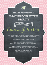 Bachelorette Party Invitation - chalkboard trellis blossom