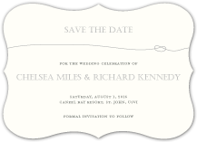 Save the Date Card - tying the knot