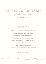 Wedding Program - tying the knot