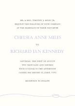 Wedding Invitations - tying the knot