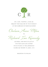Wedding Invitations - palm tree monogram
