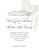 Wedding Invitations - vintage falling roses