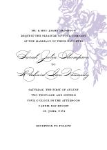 Wedding Invitations - vintage falling roses