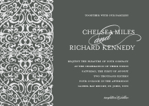 Wedding Invitations - swirly gate hearts