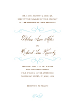 Wedding Invitations - classic swirls