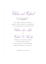 Wedding Invitations - hearts swirl