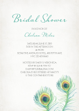 Wedding Shower Invitation - peacock feather