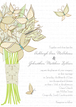 Wedding Invitations - butterfly wedding bouquet