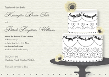 Wedding Invitations - wedding cake words