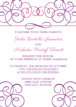 Wedding Invitations - elegant swirl