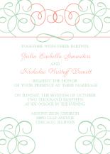 Wedding Invitations - elegant swirl