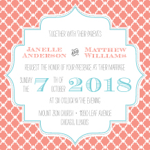 Wedding Invitations - lovely lattice