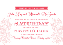 Wedding Invitations - paisley wedding