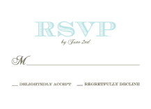 Response Card - wedding damask