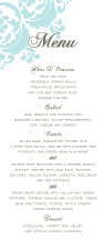 Menu - wedding damask