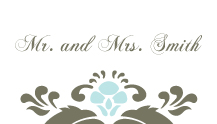 Place Card - wedding damask