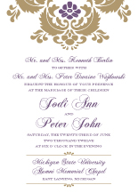 Wedding Invitations - wedding damask