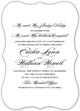 Wedding Invitations - traditional wedding