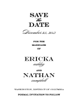 Save the Date Card - traditional wedding