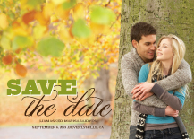 Save the Date Card with photo - florentine